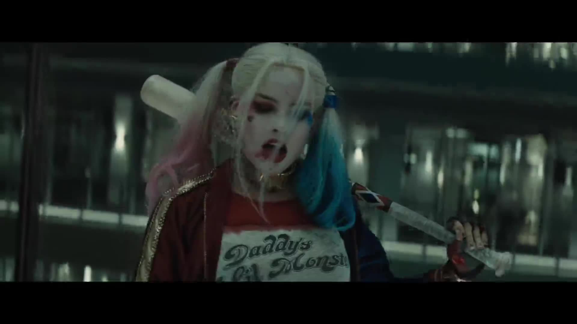 Margot Robbie mashup scenes in Suicide Squad