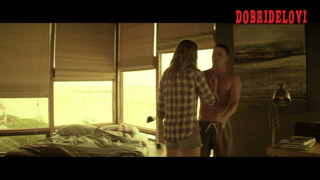 Riley Keough topless while asleep in Magic Mike