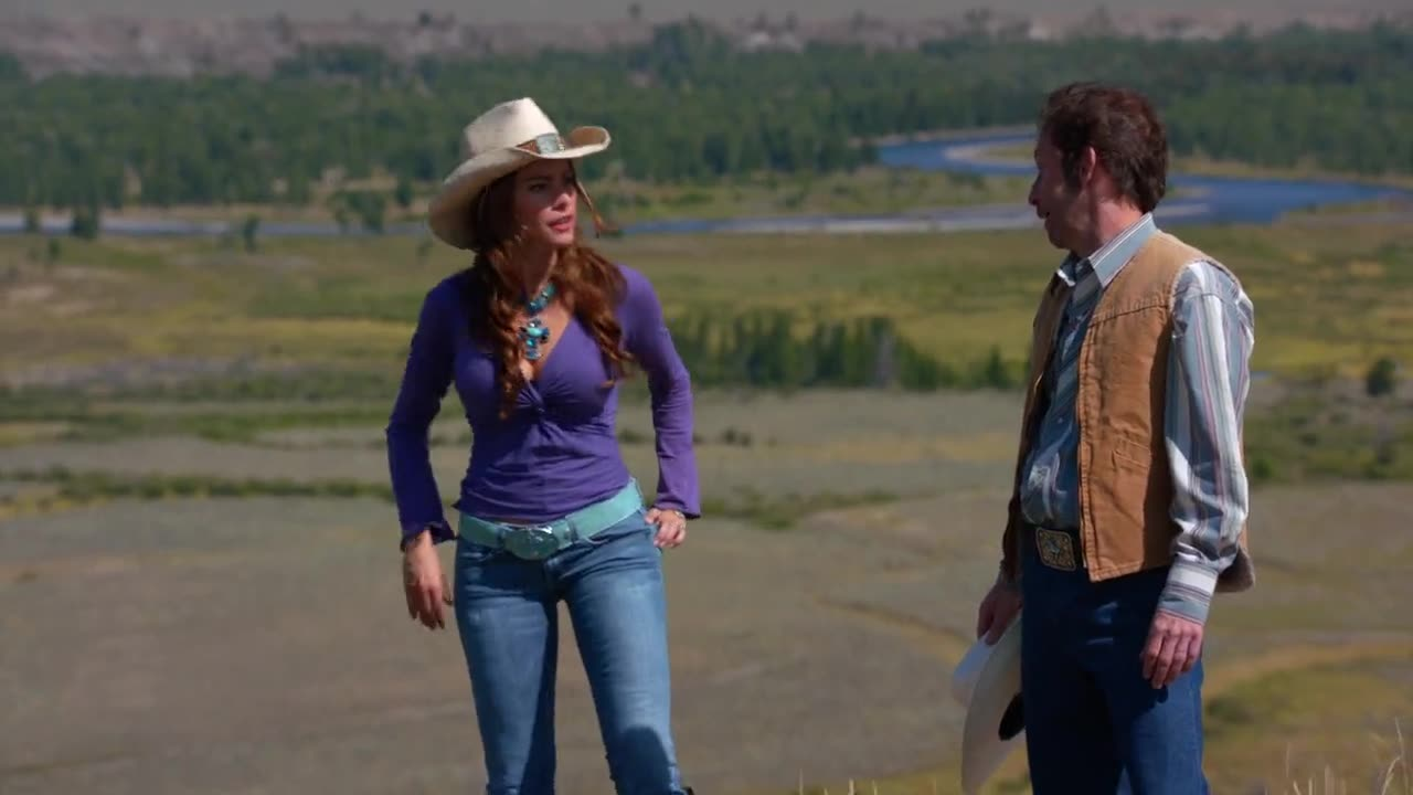 Sofia Vergara gropped by cowboy scene from Modern Family