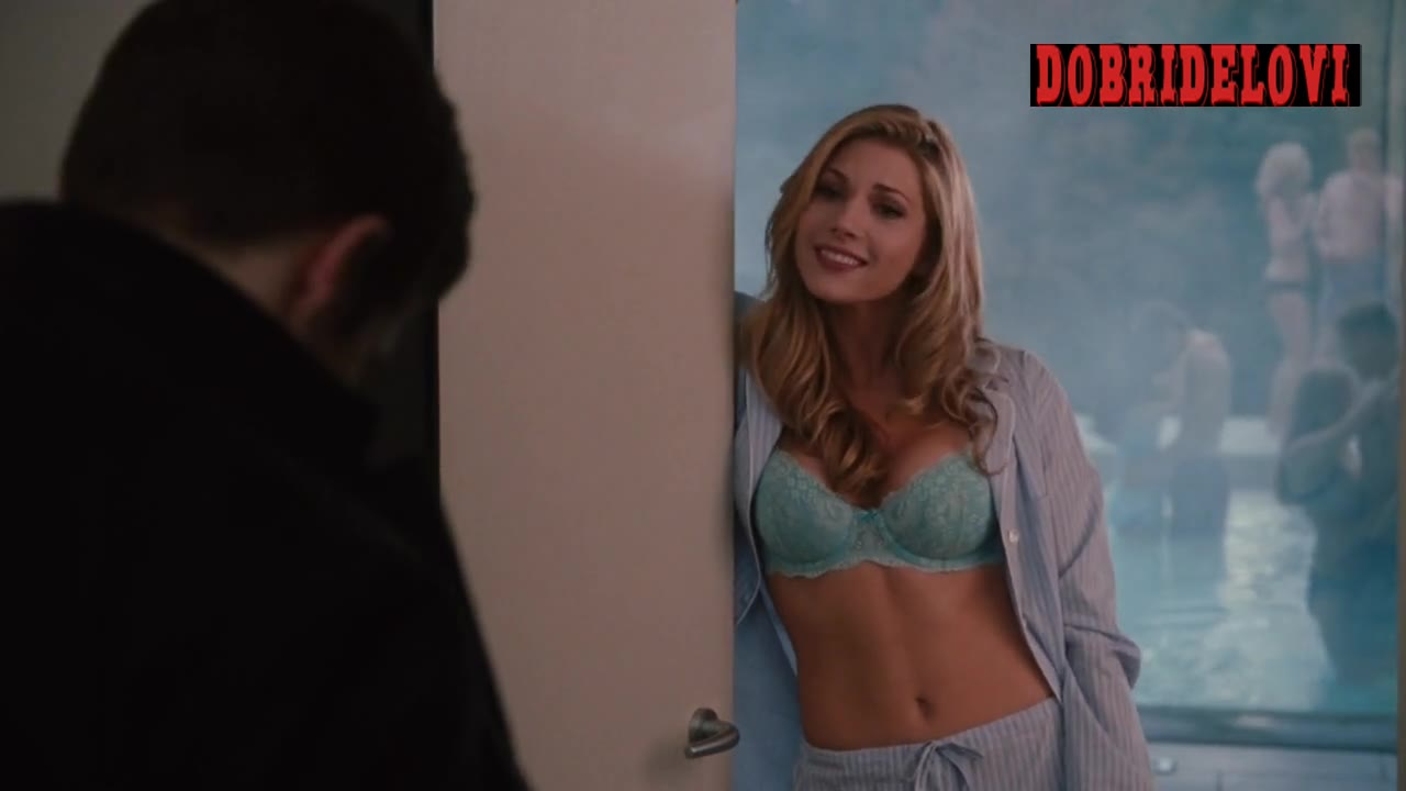 Katheryn Winnick sexy cleavage answering the door in Love & Other Drugs