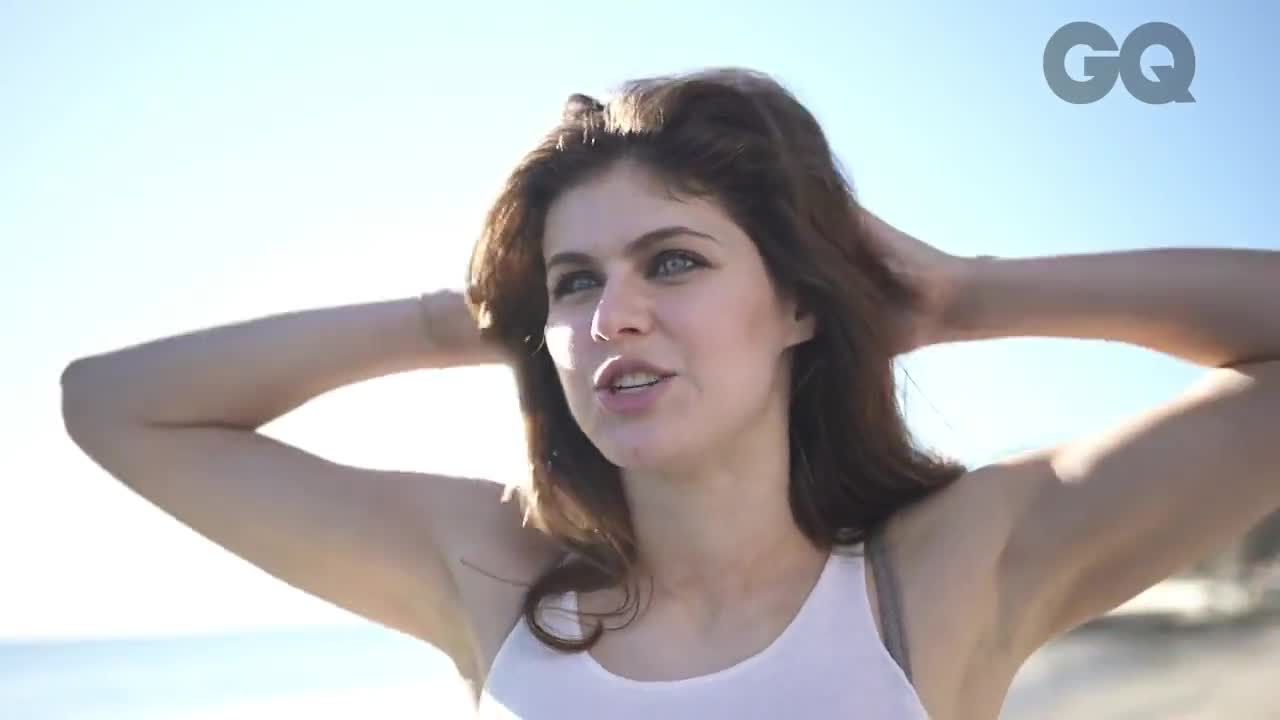 Alexandra Daddario photo shoot from GQ Behind the Scenes