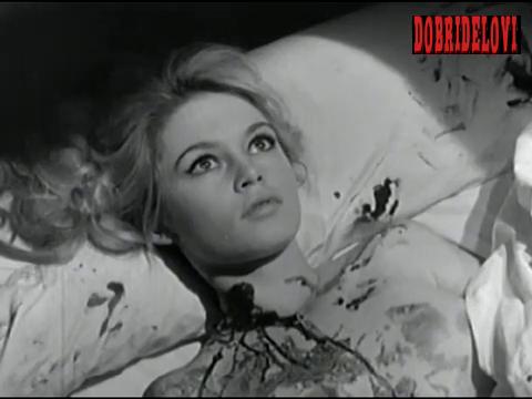 Brigitte Bardot nude and dead scene from En Cas de Malheur