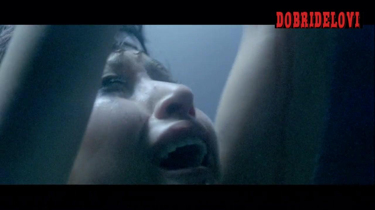 Olga Kurylenko nude tied and being whipped scene from Hitman