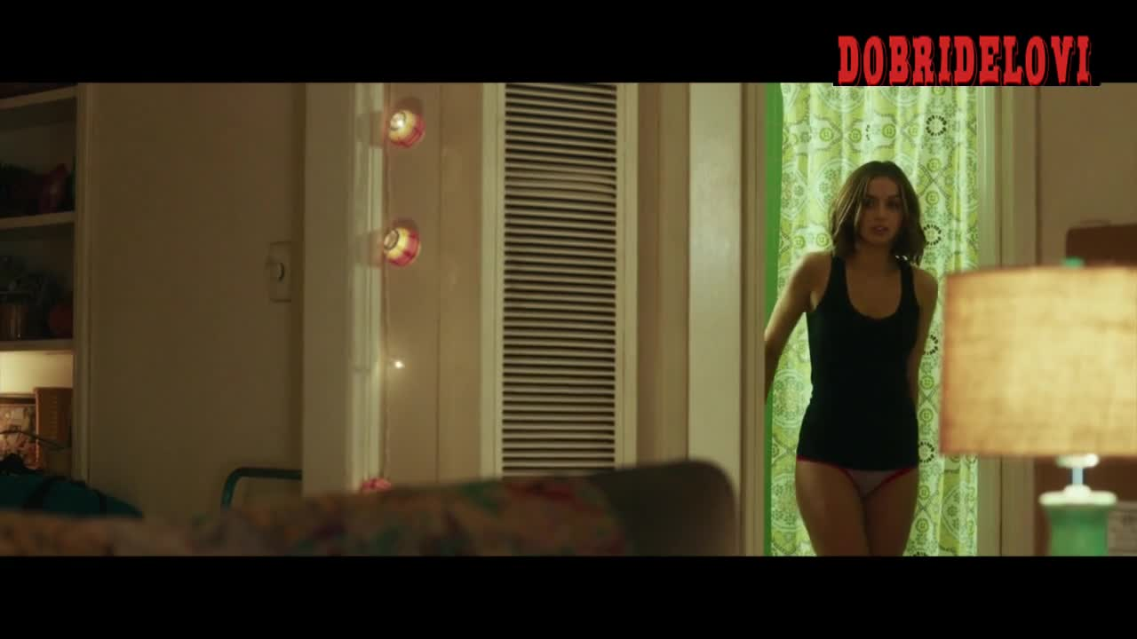 Ana de Armas pink panties scene from War Dogs