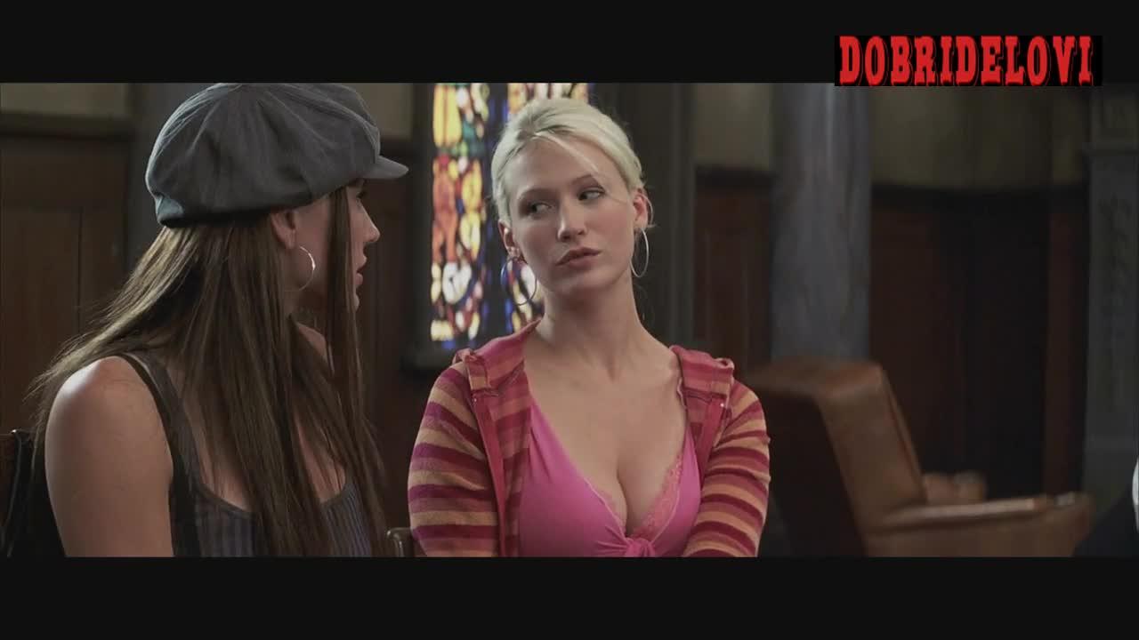 January Jones and Krista Allen lesbian kiss scene from Anger Management