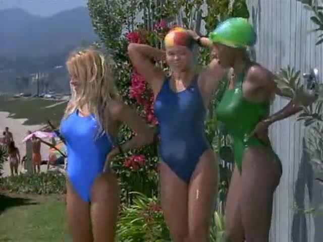 Donna D'Errico and Pamela Anderson scene from Baywatch