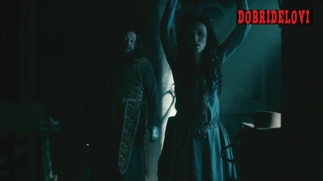Karen Hassan tied up and whipped scene from Vikings