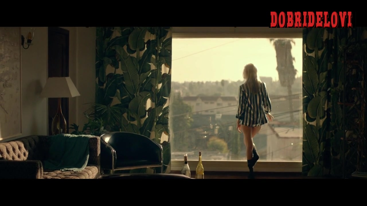 Isabel Lucas open shirt standing at the window scene from Electric Slide