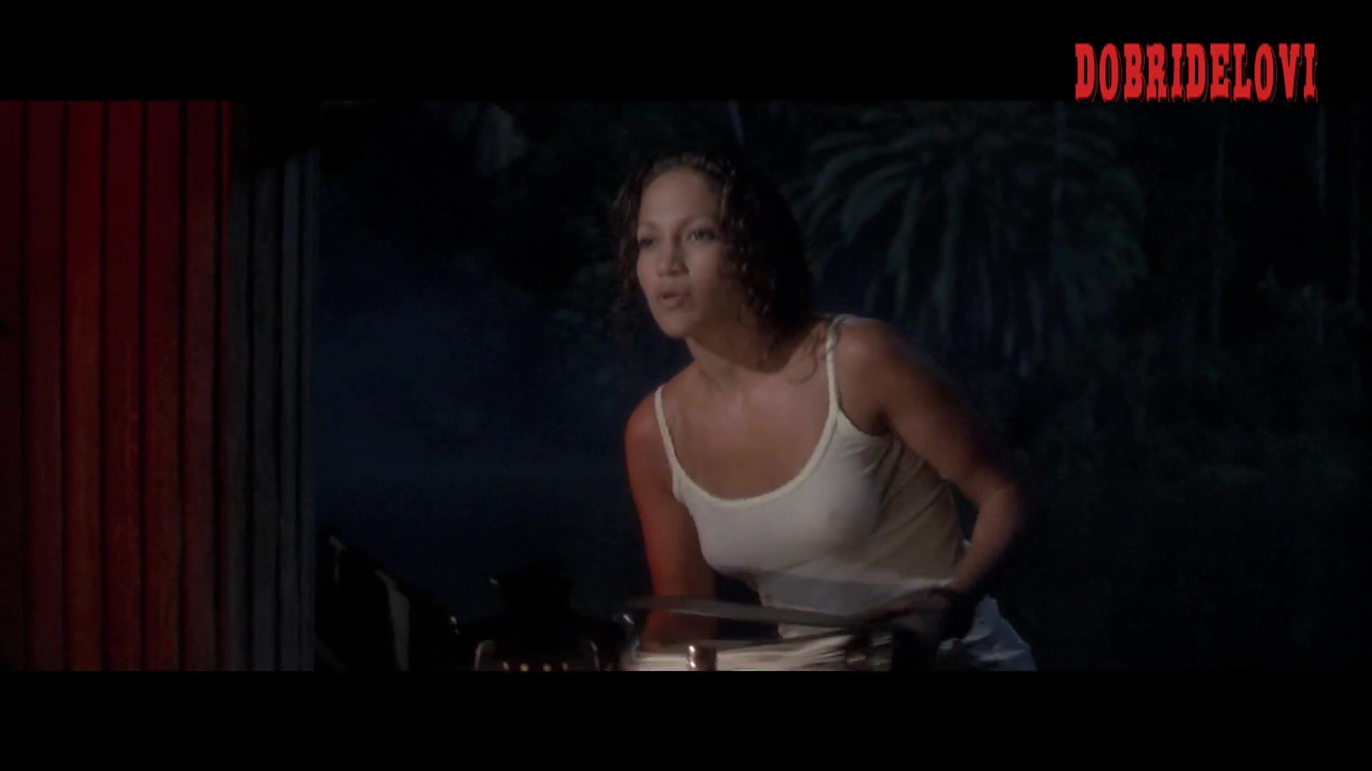 Jennifer Lopez sexy pokies scene from Anaconda