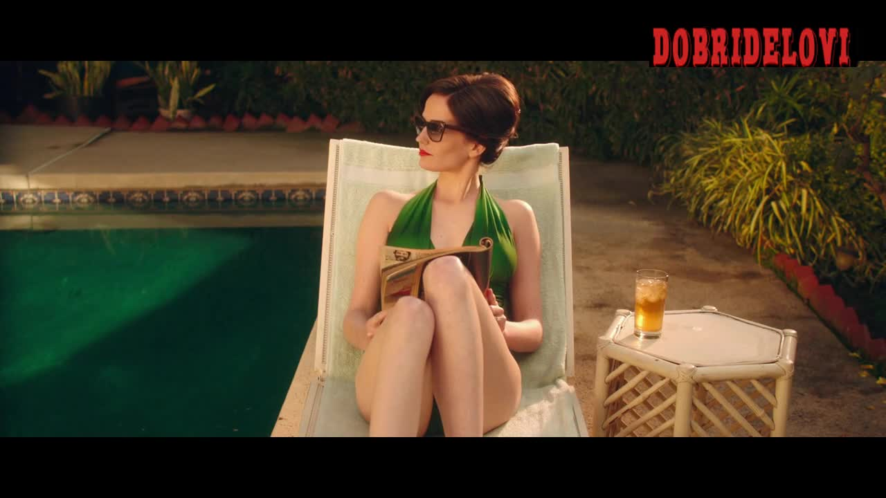 Eva Green sex with green one piece poolside for White Bird