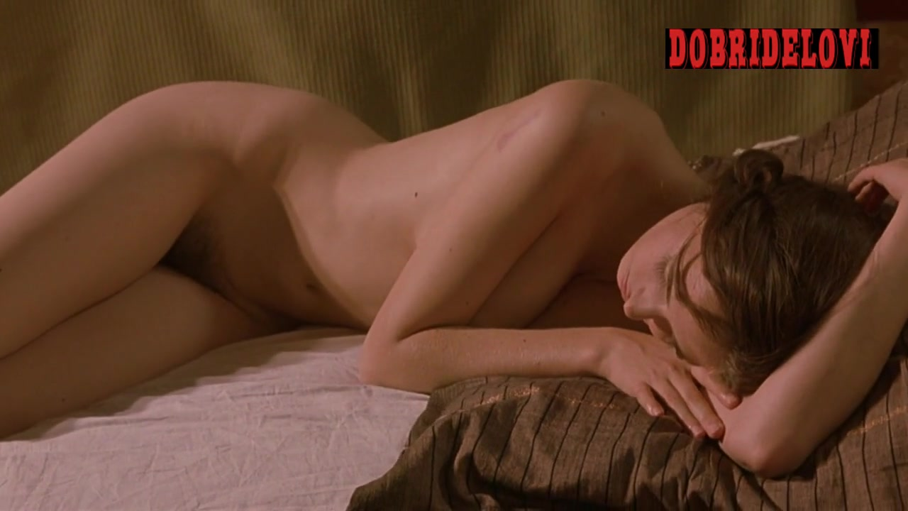 Eva Green relaxing nude in bed scene from The Dreamers