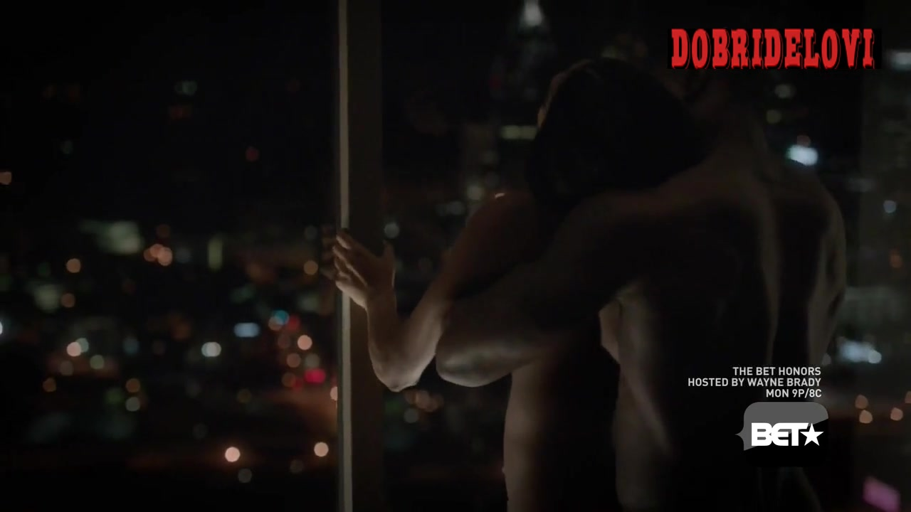 Watch Gabrielle Union pressed against glass scene from Being Mary Jane video