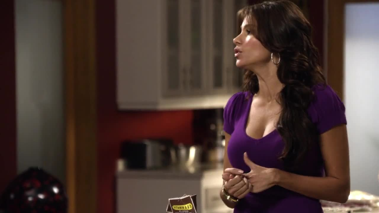 Sofia Vergara giggling tits scene from Modern Family