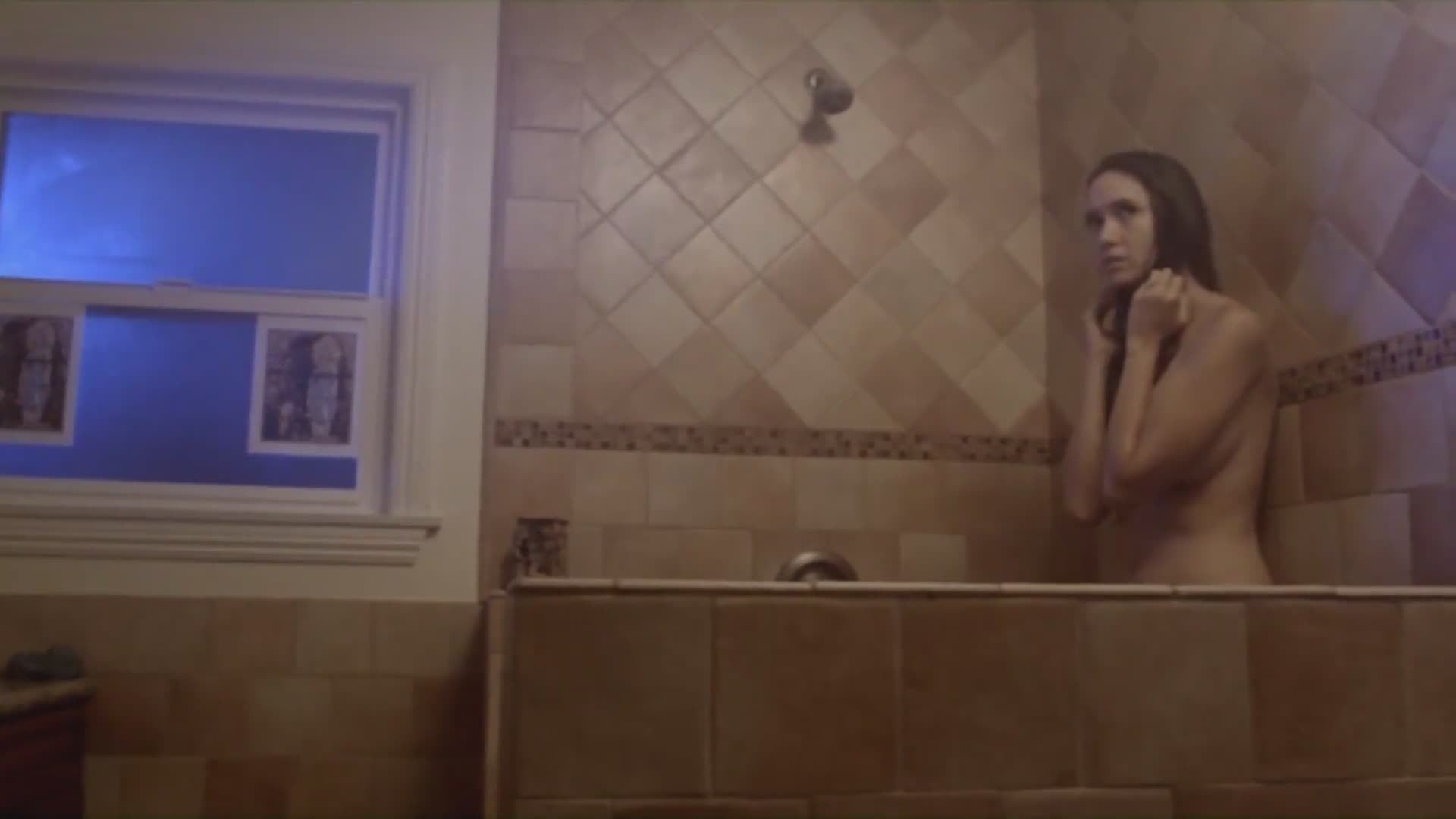 Sara Malakul gets into the shower scene from 12/12/12