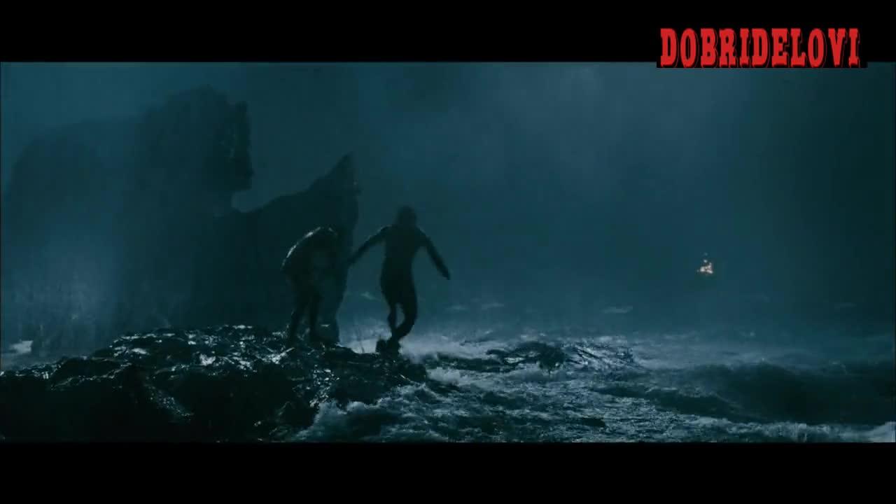 Naomi Watts wet shirt in the rain -- King Kong
