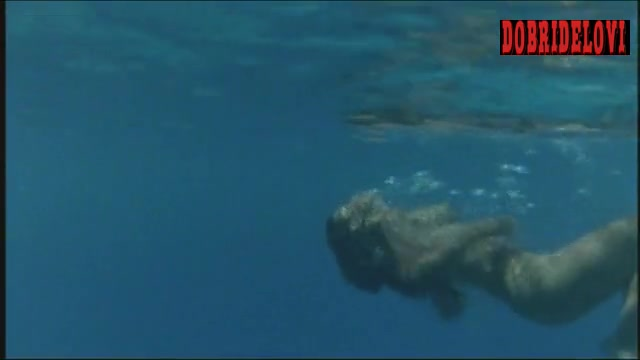 Phoebe Cates swimming nude in the ocean scene from Paradise