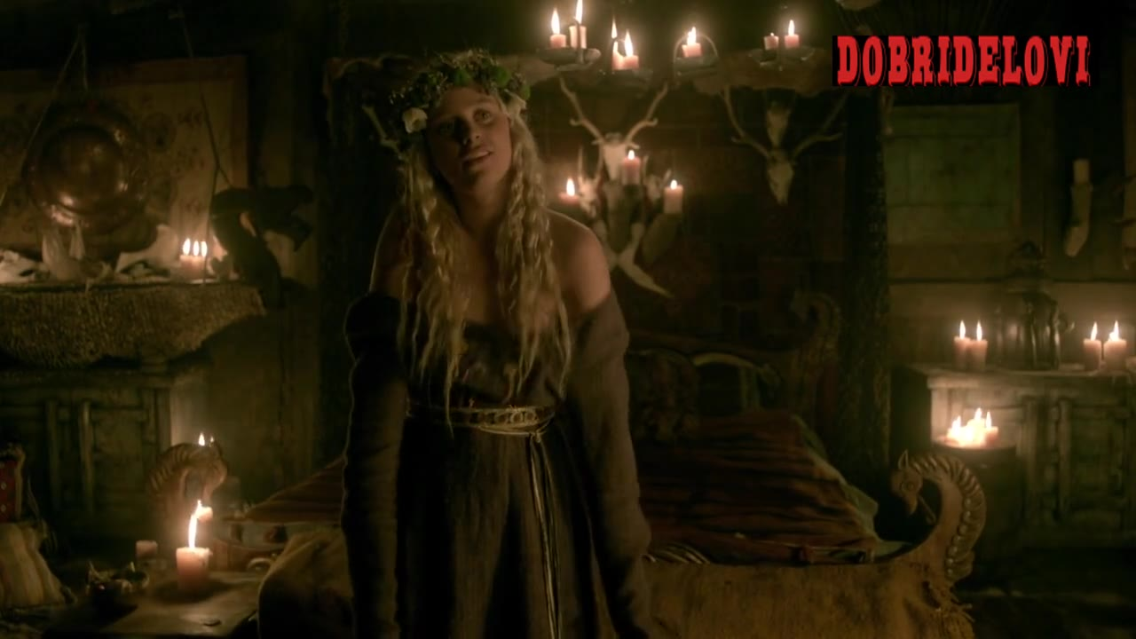Ida Marie Nielsen undressing scene from Vikings