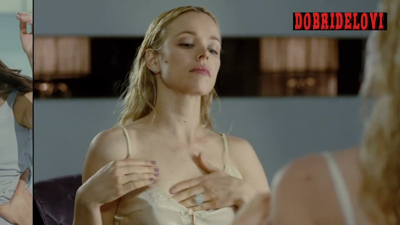 Rachel McAdams rubbing lotion on self scene from Passion