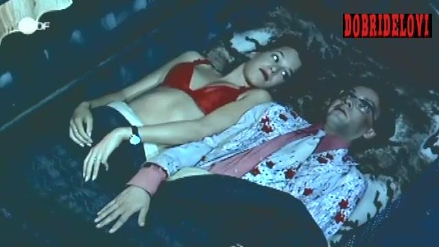 Franka Potente undresses and lays in bed scene from Die drei Mädels von der Tankstelle
