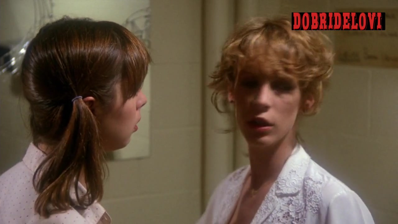 Jamie Lee Curtis girls locker room scene from Prom Night