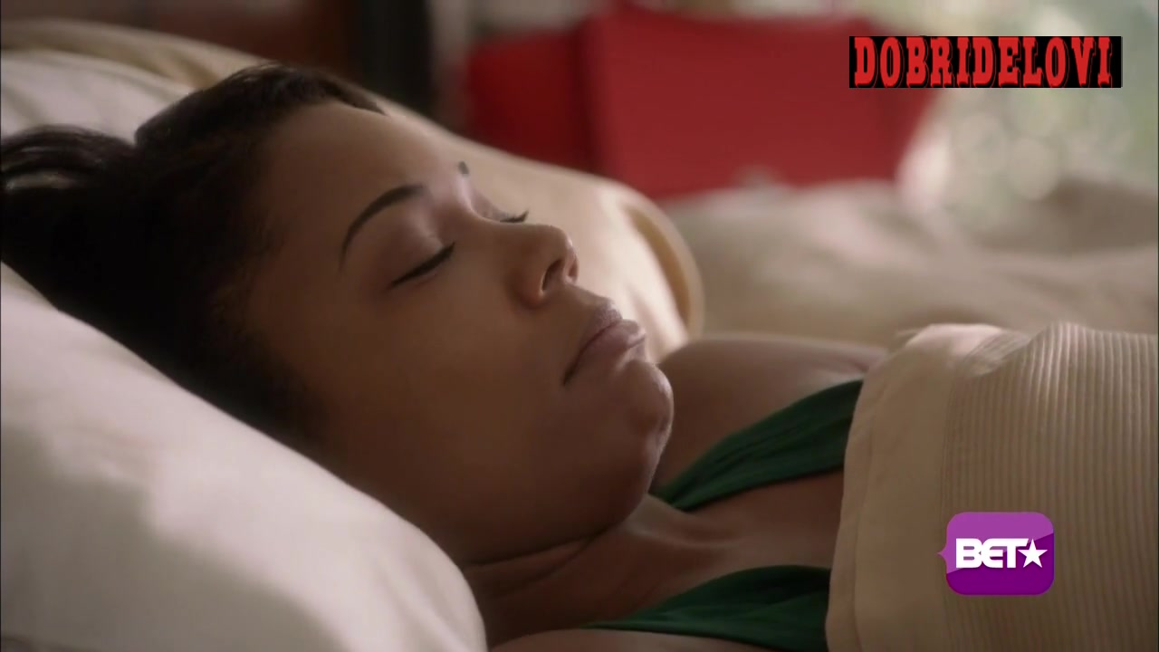Gabrielle Union waking up scene from Being Mary Jane