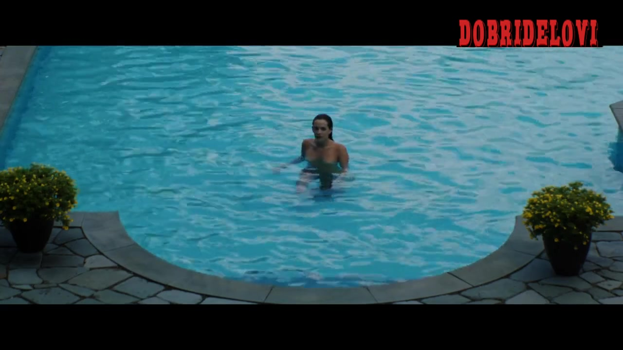 Riley Keough skinny dipping scene from Welcome the Stranger
