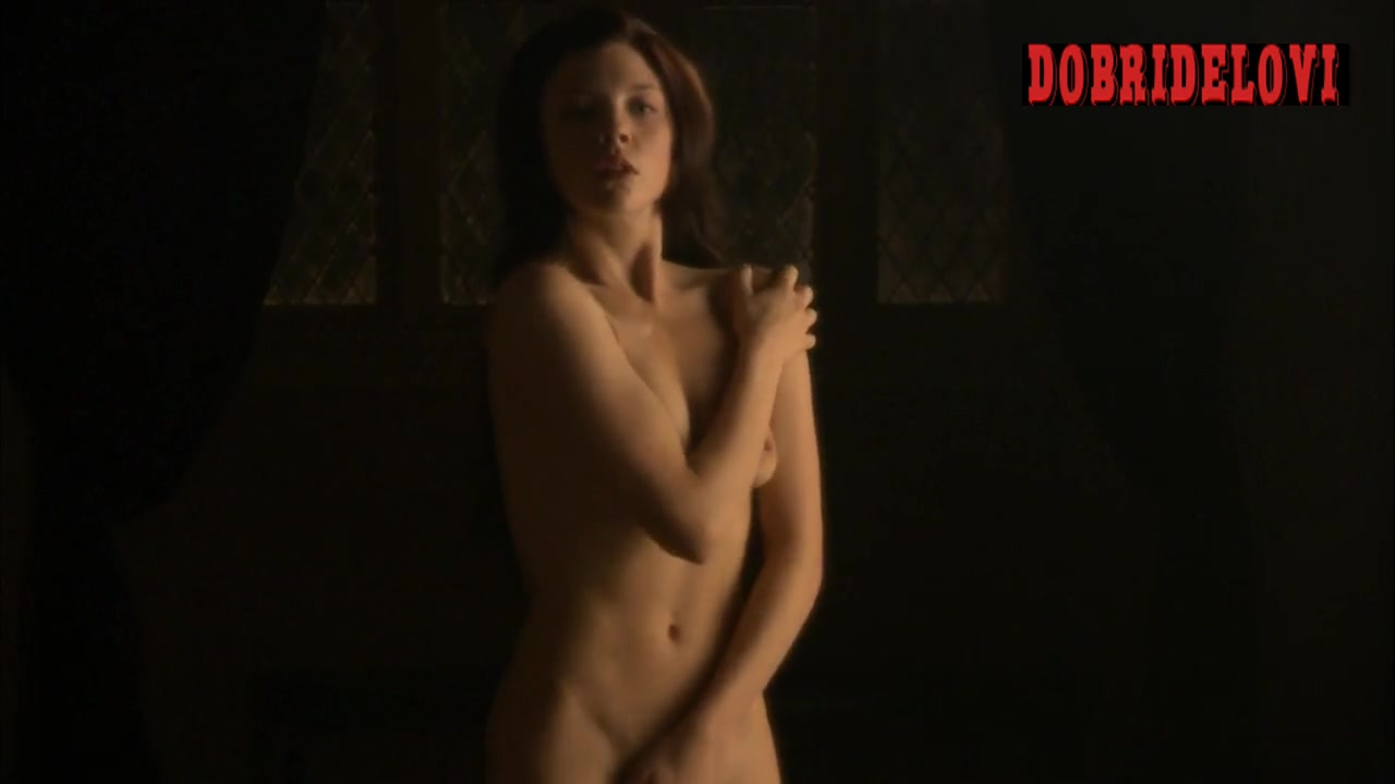 Natalie Dormer nude in Jonathan Rhys Meyers dream scene from The Tudors