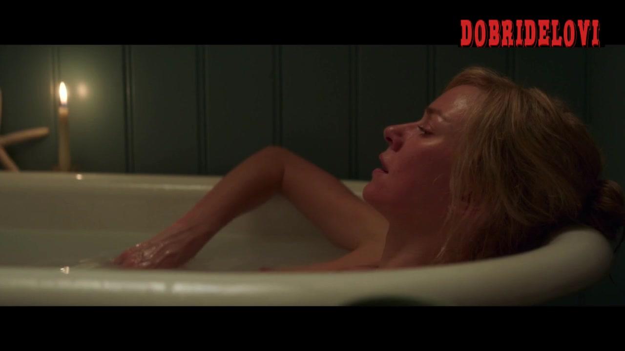 Naomi Watts bathtub nip slip scene from Shut In