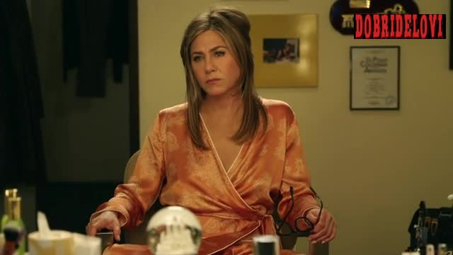 Jennifer Aniston silk robe scene from The Morning Show
