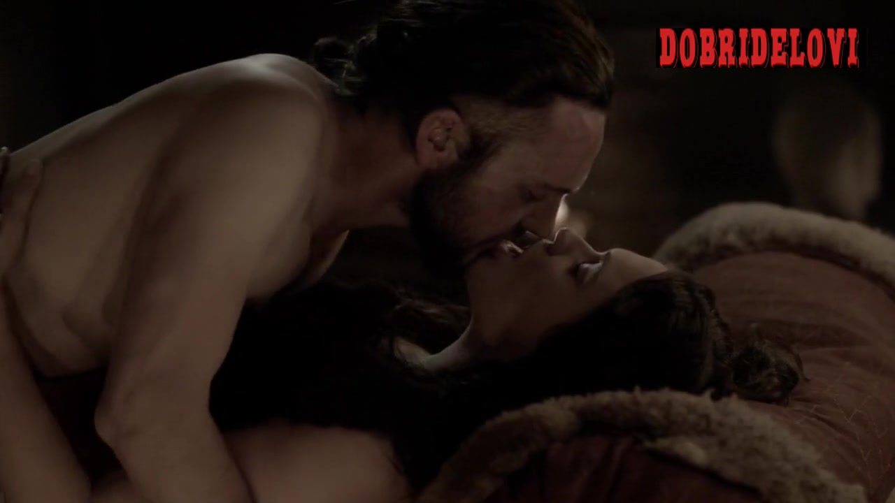 Jennie Jacques in bed scene from Vikings