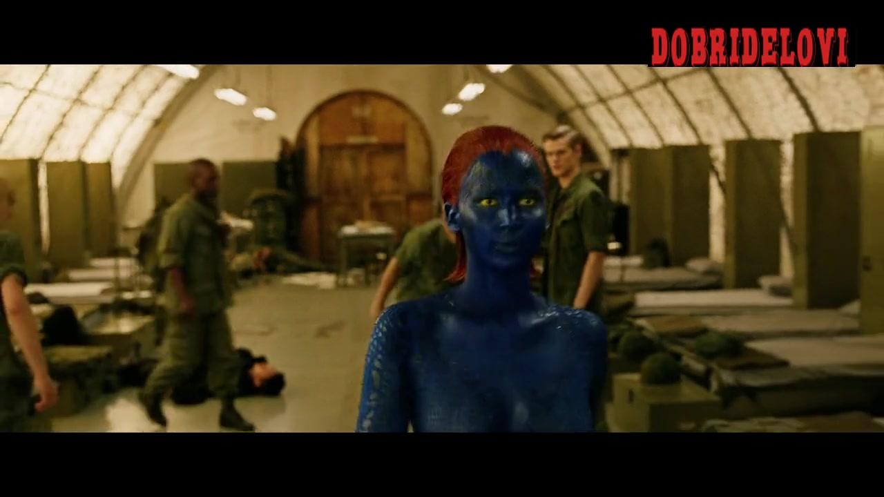 Jennifer Lawrence sexy fight scene in X-Men Days of Future Past