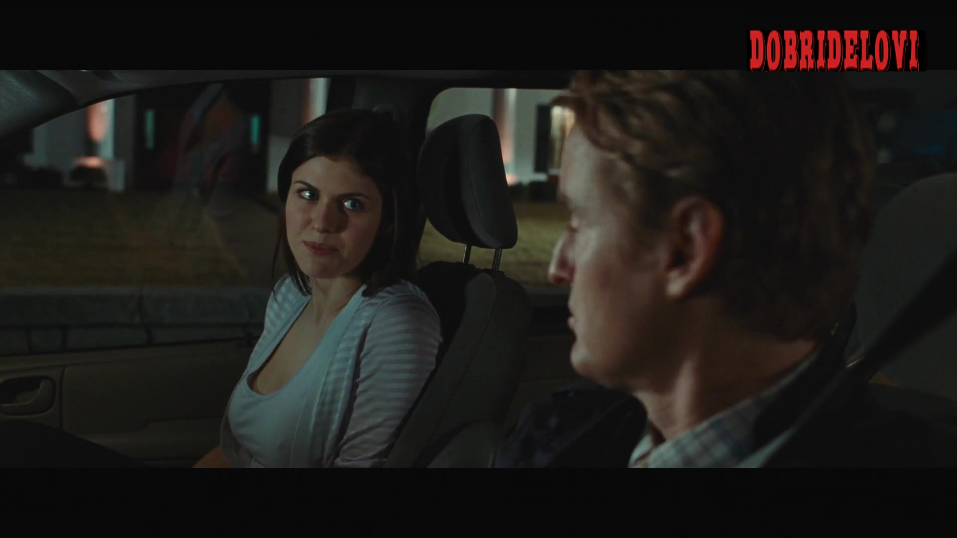 Alexandra Daddario tries to seduce Owen Wilson to get some beer