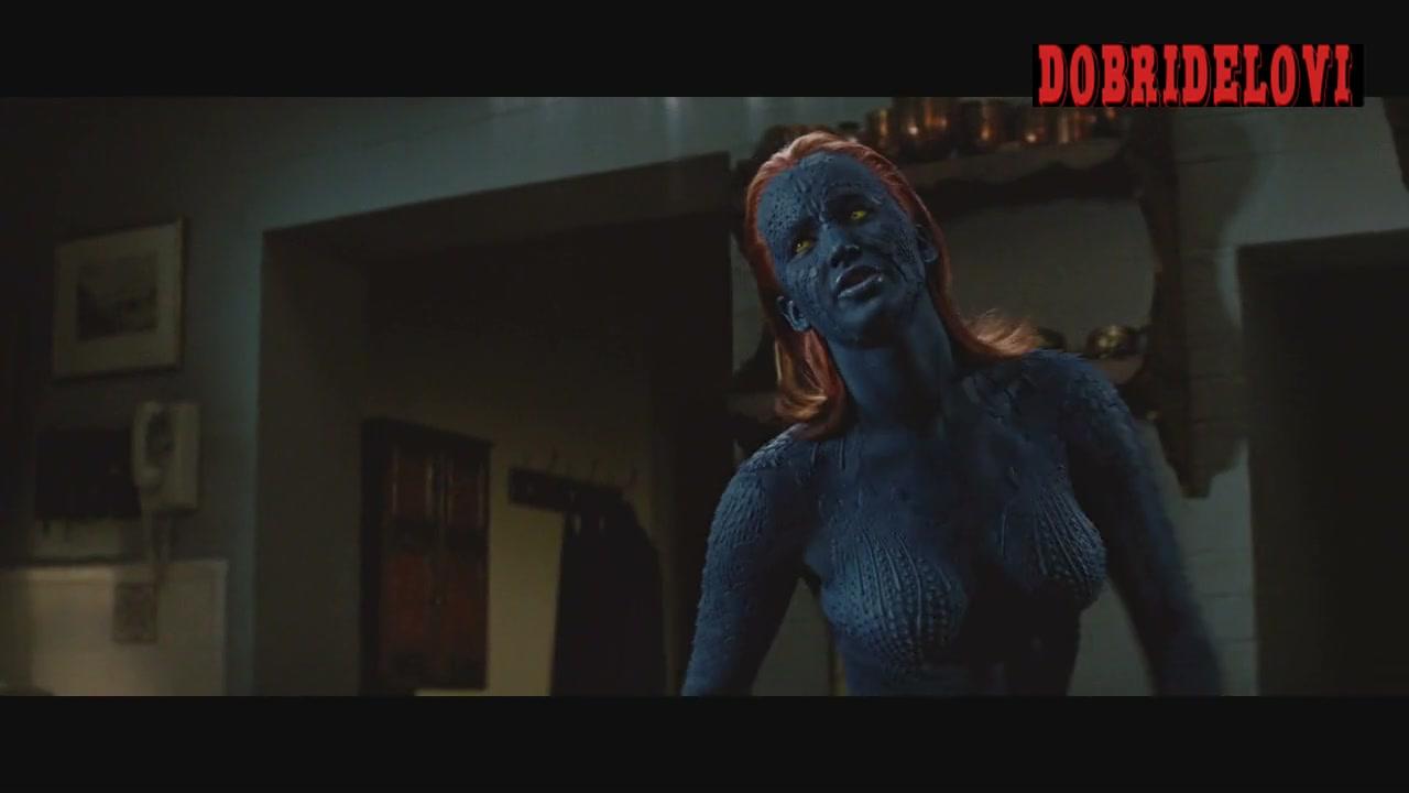 Jennifer Lawrence sexy mystique -- X-Men First Class