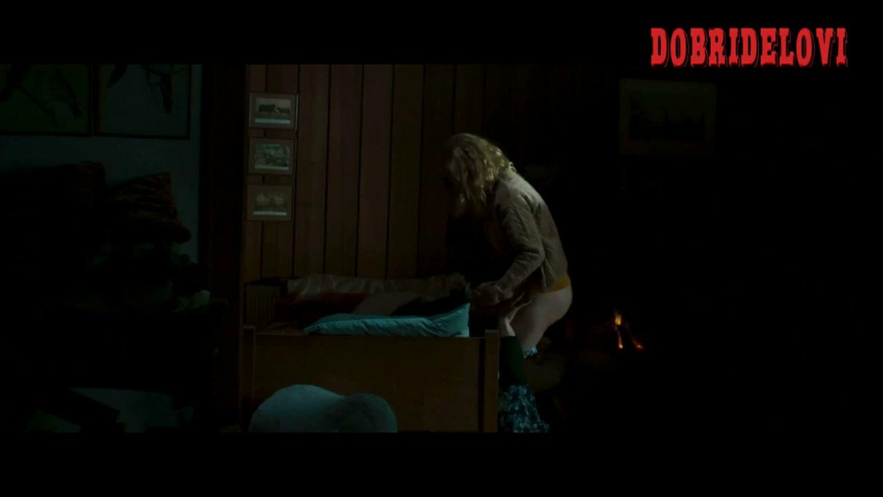 Juno Temple pulles down panties and rubs Michael Cera's head scene from Magic Magic