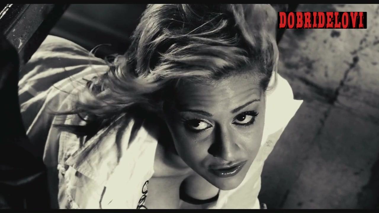 Brittany Murphy open blouse scene from Sin City