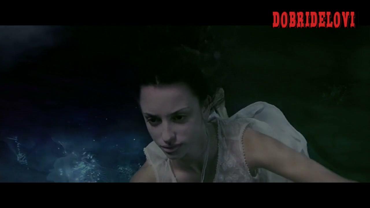 Penélope Cruz nipples through dress underwater scene from Woman on Top