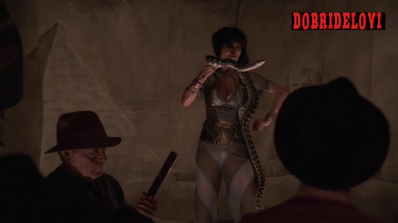 Adrienne Barbeau snake charmer scene from Carnivàle