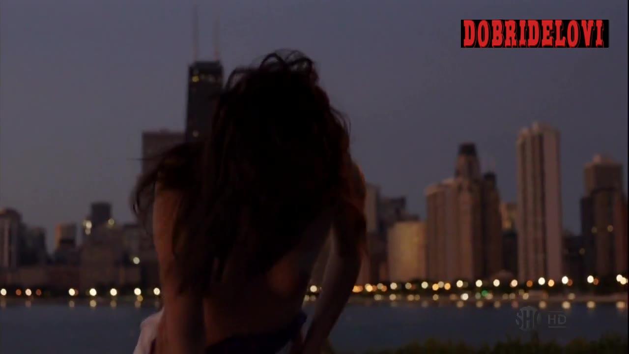 Emmy Rossum sex outdoors on Chicago shoreline scene from Shameless