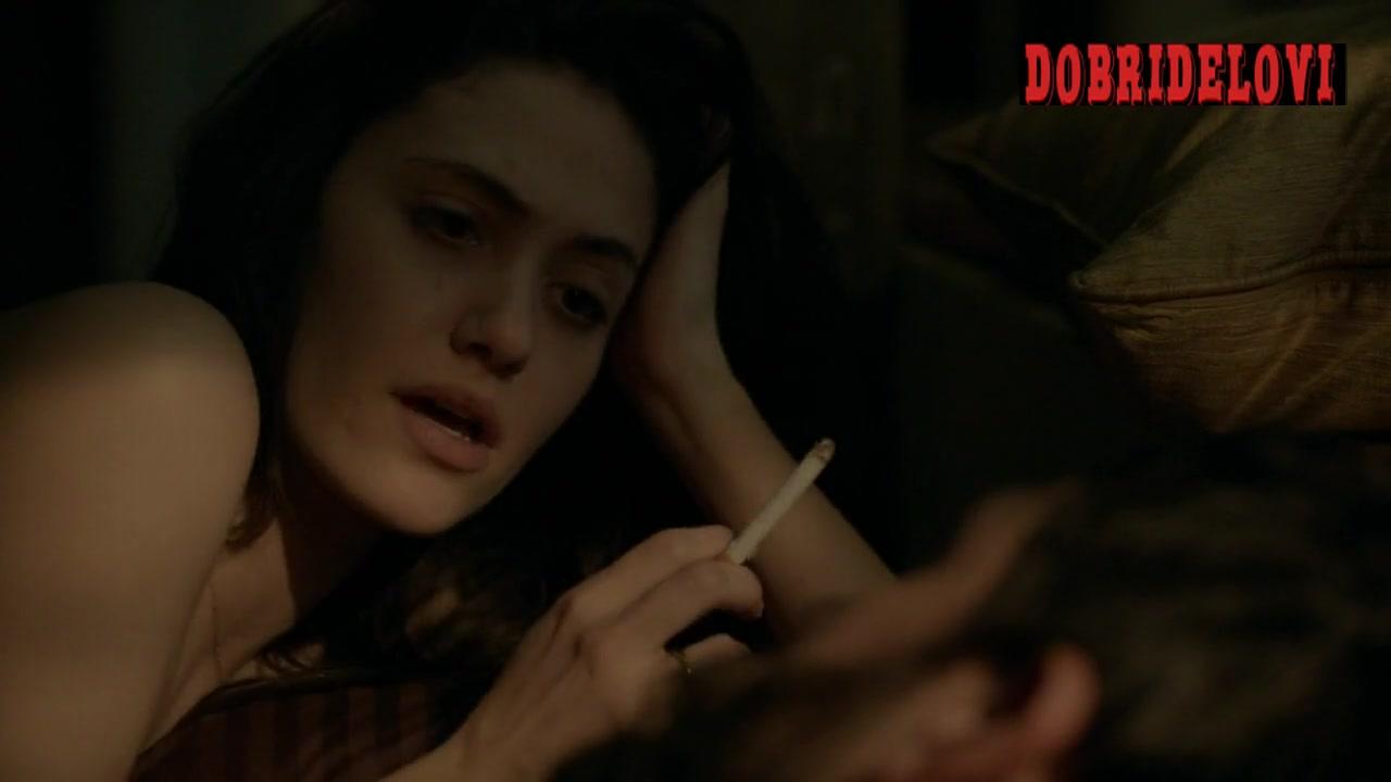 Emmy Rossum smoking after sex scene from Shameless