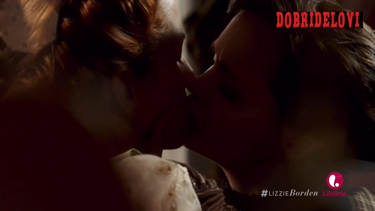 Christina Ricci and Kimberly-Sue Murray lesbian scene from The Lizzie Borden Chronicles