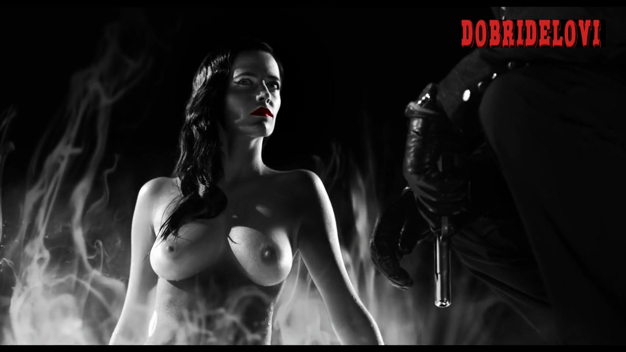 Eva Green nude standing up from a pool scene from Sin City
