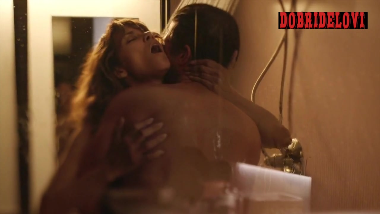Halle Berry shower sex scene with Jeffrey Dean Morgan from Extant video image