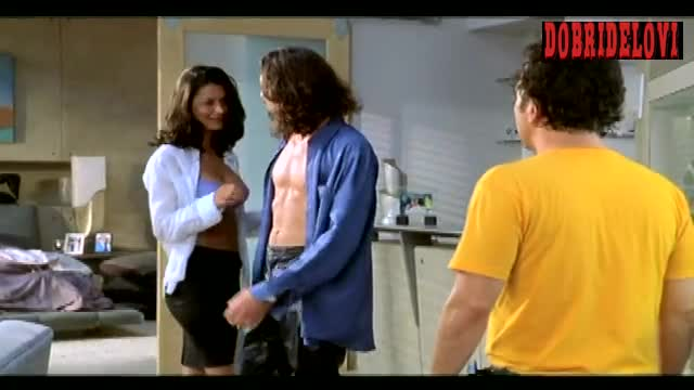 Charlie Curtis sexy open blouse scene from Deuce Bigalow