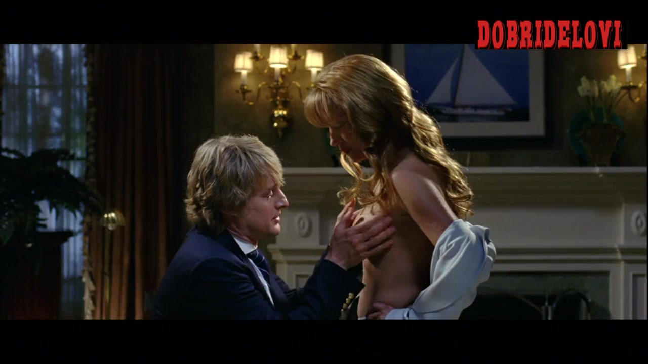 Jane Seymour tits squeezed by Owen Wilson