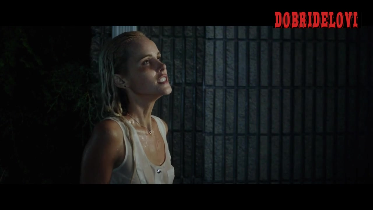 Isabel Lucas sexy pokies with wet clothes scene from Careful What You Wish For