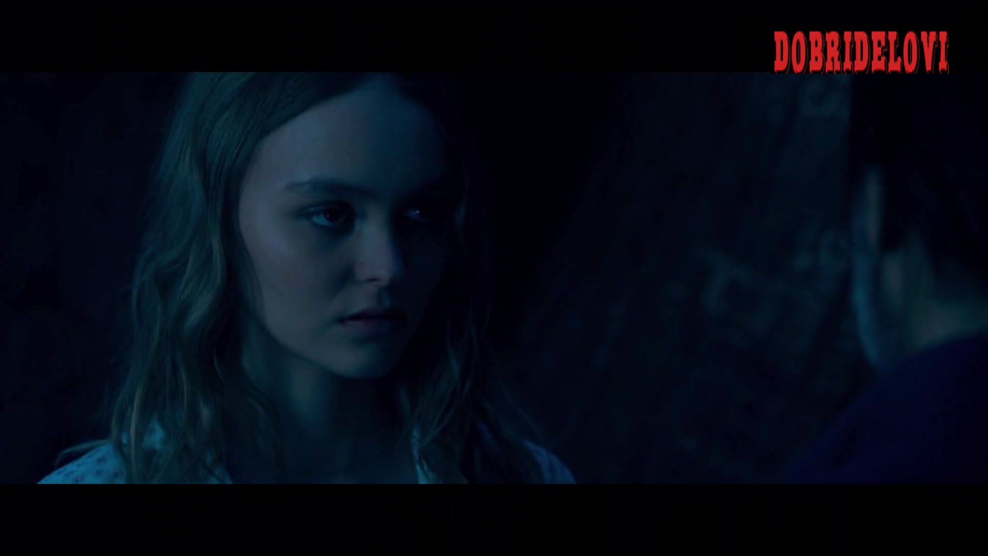Lily Rose Depp sexy open shirt scene from Savage