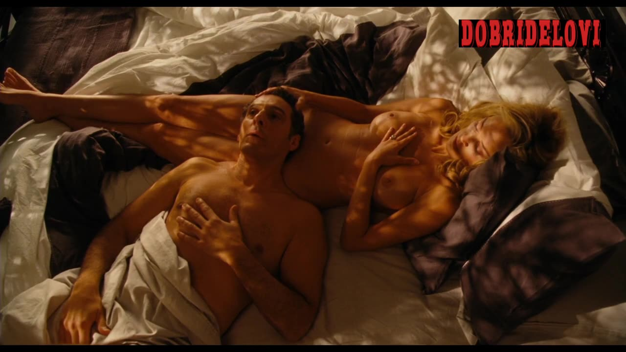 Sharon Stone lays naked in bed with John Turturro