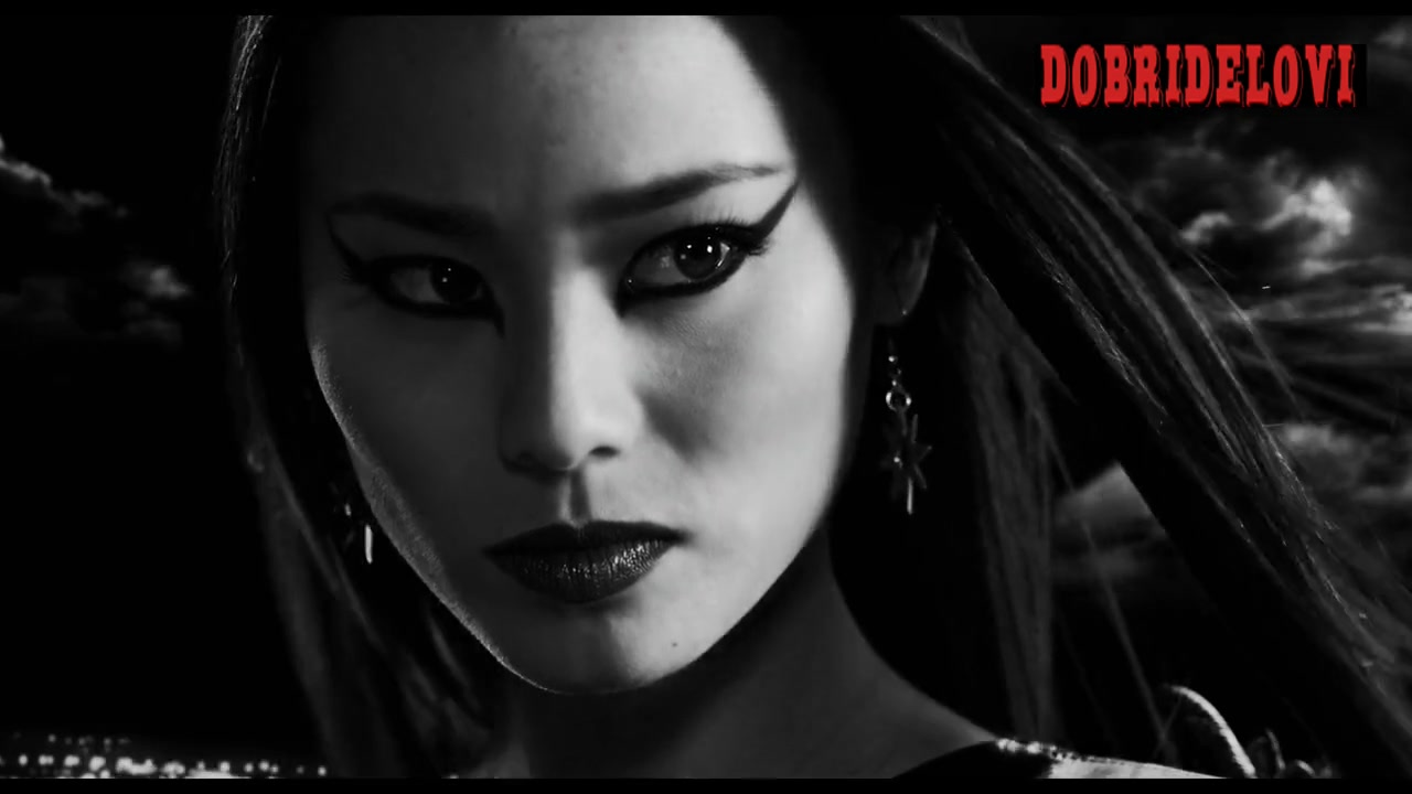 Jamie Chung femme fatale scene from Sin City a Dame to Kill For