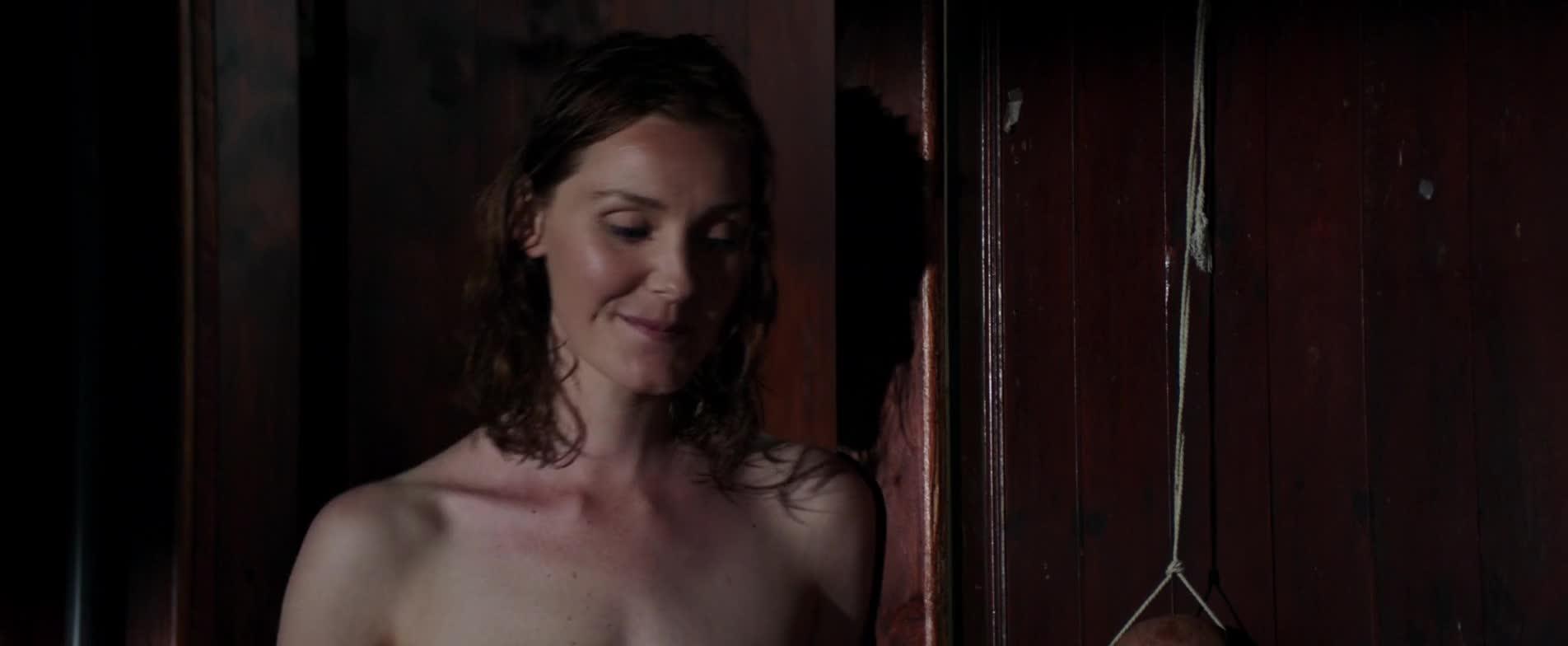 Violet Ryder flaunts her naked tits for Karl Urban