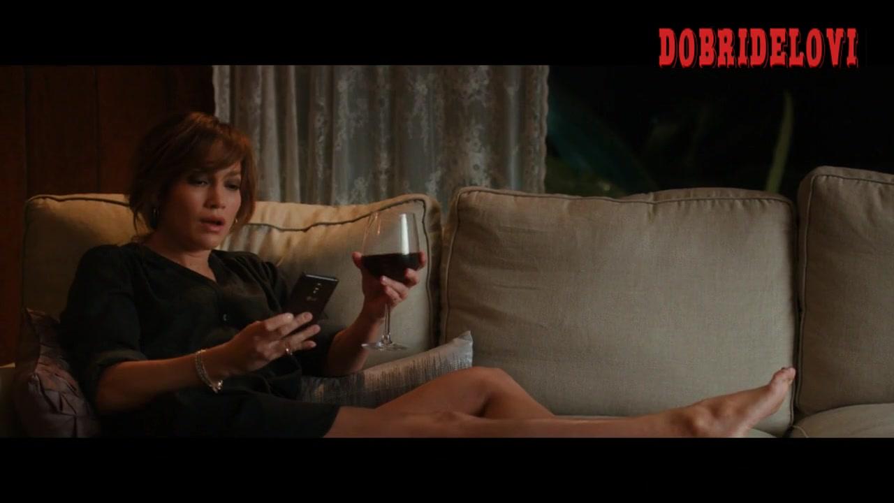 Jennifer Lopez sexy short dress on couch -- The Boy Next Door